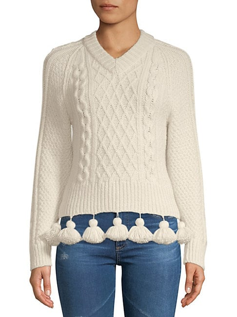 Rosie Assoulin ELANORS CABLE-KNIT SWEATER