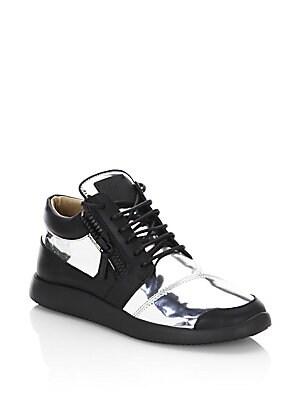 Metallic Runner Leather Sneakers