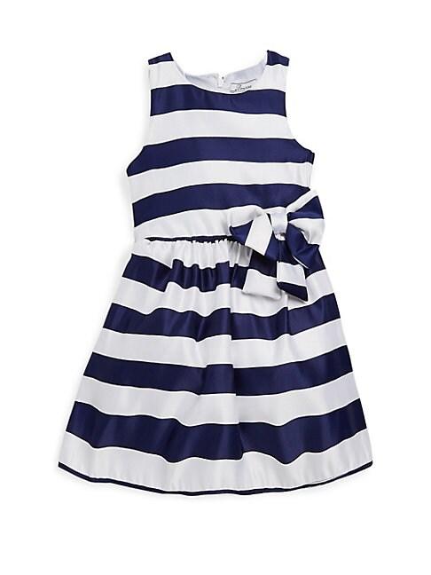 DORISSA | Little Girl's Striped Sleeveless Dress | Goxip