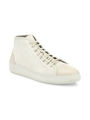 FACTO Suede & Leather Sneakers in White