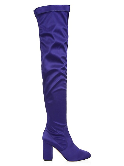 SO ME OVER-THE-KNEE SATIN BOOTS
