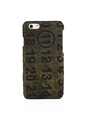 MILITARY LEATHER IPHONE CASE