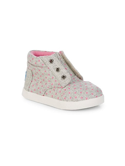 Baby Girl's, Little Girl's & Girl's Dotted High-Top Sneakers