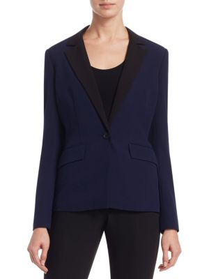 Scripted Contrast Blazer