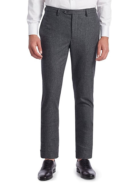 Paul Houndstooth Wool Pants