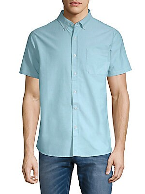 Uncle Short-Sleeve Cotton Button-Down Shirt