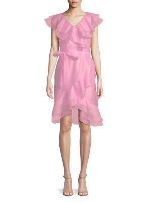 Avantlook Flower Ruffle Sheath Dress