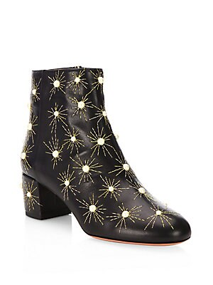 Brooklyn Studded Leather Booties