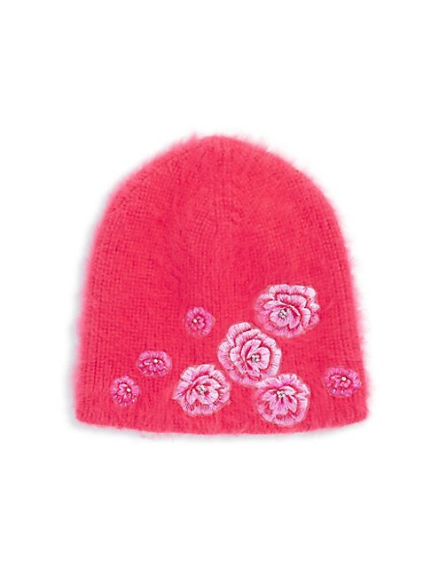 Floral Knitted Beanie