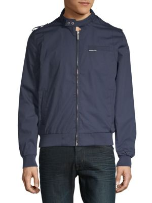MEMBERS ONLY Classic Iconic Racer Jacket in Navy