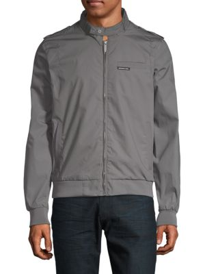 MEMBERS ONLY Classic Iconic Racer Jacket in Grey