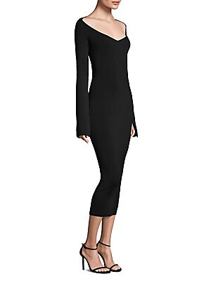 Woman Mila Stretch-Knit Midi Dress Black