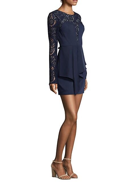 Floral Lace Satin Dress