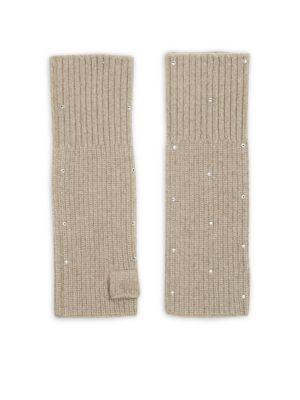 Portolano Embellished Cashmere Gloves
