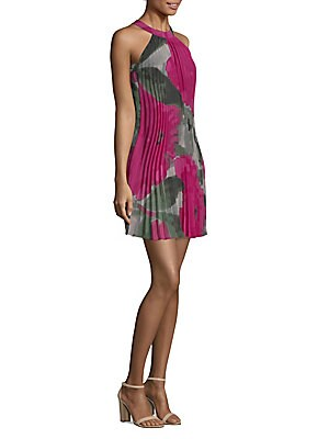 L.A. Confidential Corinna Pleated Floral Dress