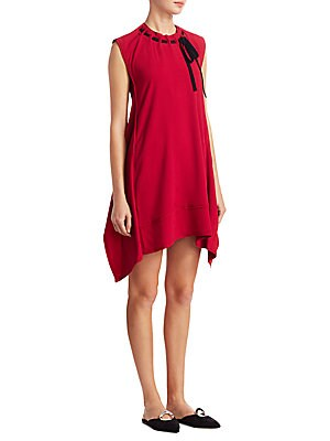 Tie Front Trapeze Dress