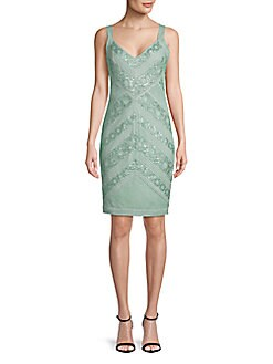 91da7dd8248 QUICK VIEW. Tadashi Shoji. V-Neck Sequin Sheath Dress