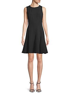 3c480a51b4e Anne Klein - Fit- -Flare Crepe Dress - saksoff5th.com