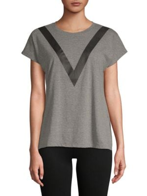 Lazy Day Short-Sleeve Top, Dark Heather