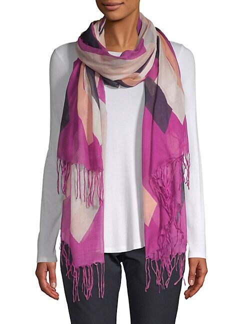Geometric Silk-Blend Scarf