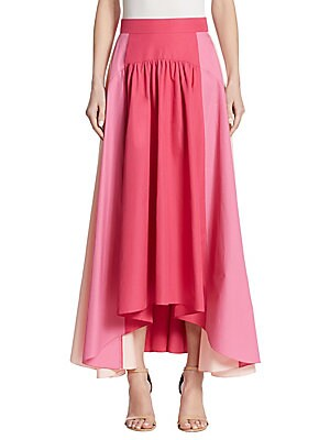 Paneled Cotton Skirt
