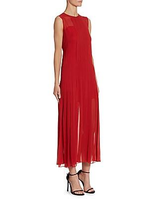 Box Pleat Slip Dress