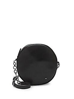Quick View Halston Heritage Leather Circle Shoulder Bag
