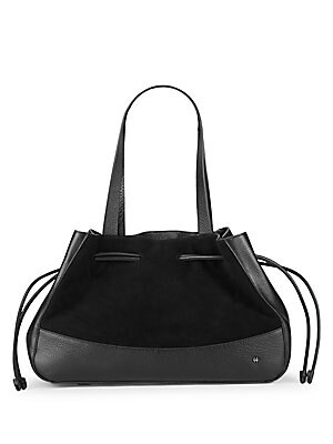 f97dafeacce2 Halston Heritage - Drawstring Suede   Leather Shoulder Bag - saksoff5th.com