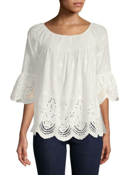 Off The Shoulder Cotton Top by Beach Lunch Lounge