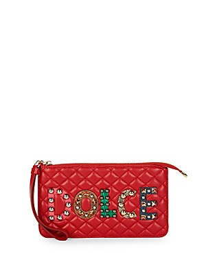 Logo Stud Quilted Purse