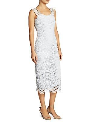 Guipure Wave Lace Sheath Dress