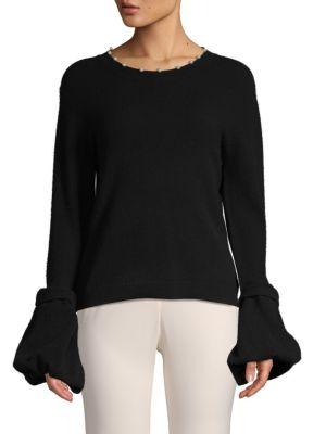 Altuzarra Sweaters Salome Faux Pearl & Bell Sleeve Sweater