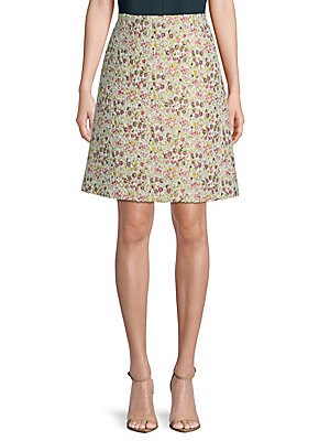 Tweed Floral Skirt