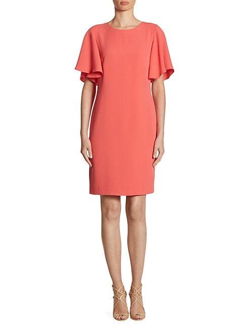 SHOSHANNA | Mayberry Ruffle-Sleeve Dress | Goxip