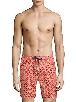 Parrot-Print Swim Shorts