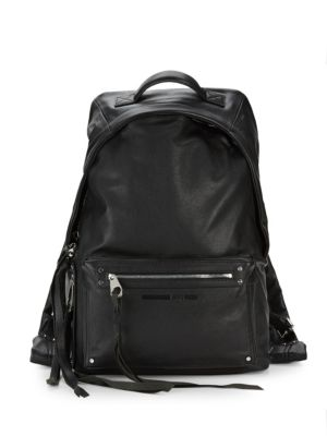 Mcq Alexander Mcqueen Classic Leather Backpack, Black