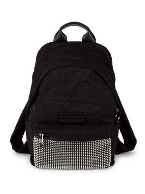 Embellished Logo Backpack, Black
