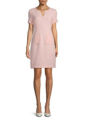 Lace Paneled Shift Dress by Karl Lagerfeld Paris