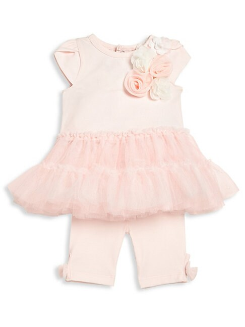 Baby Girl's Two-Piece Pretty in Pink Tutu Top & Leggings Set