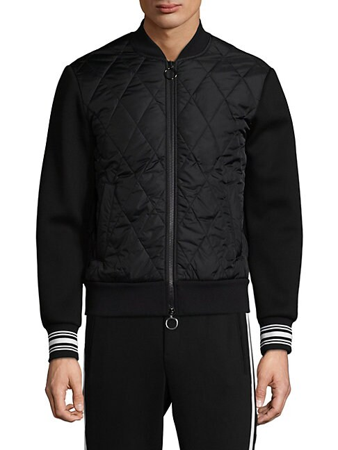 FACTORY BY ERIK HART | Quilted Bomber Jacket | Goxip