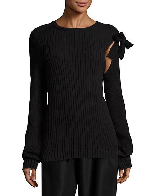 Wool Tie Pullover