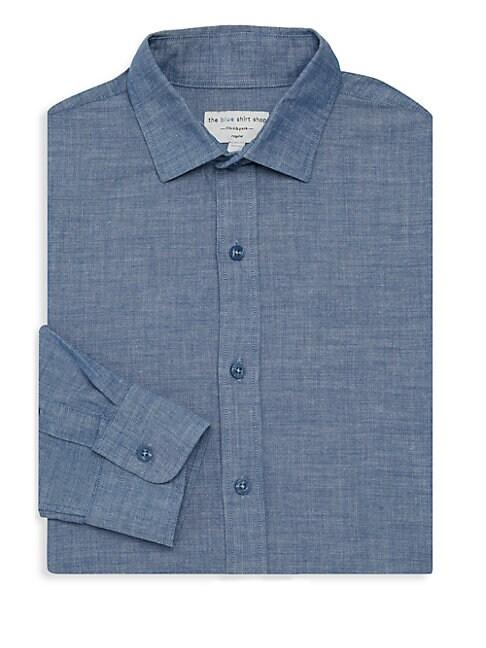 THE BLUE SHIRT SHOP 73Rd & Park Regular-Fit Shirt in Blue Chambray
