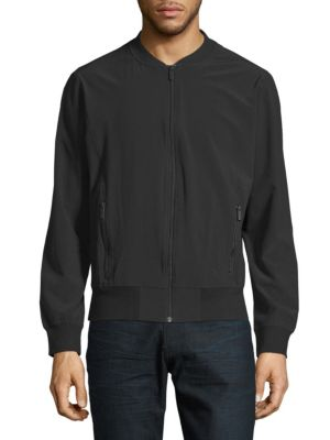 HPE Casual Bomber Jacket in Black