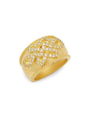 Goldtone Cubic Zirconia Knot Ring