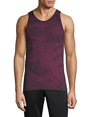 HPE Camouflage Seamless Tank Top in Coral Camo