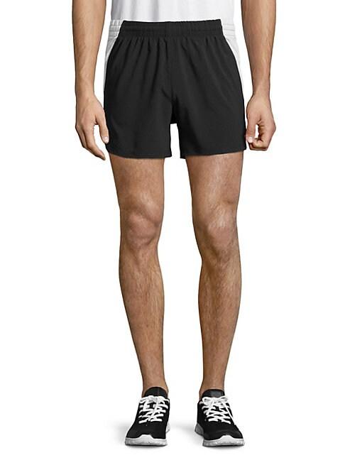 HPE Elite Running Shorts in White Black