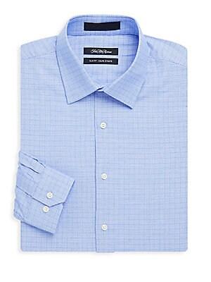 Cotton Slim-Fit Pincheck Shirt