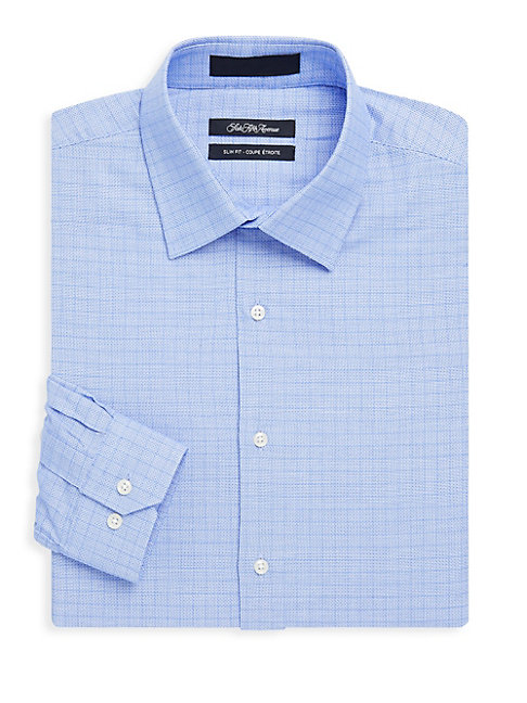 Cotton Slim-Fit Pincheck Shirt