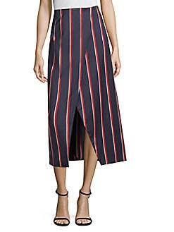 Solace London - Apolline Striped Midi Skirt