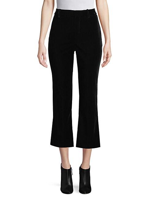 10 CROSBY DEREK LAM | Velvet Cropped Flare Pants | Goxip